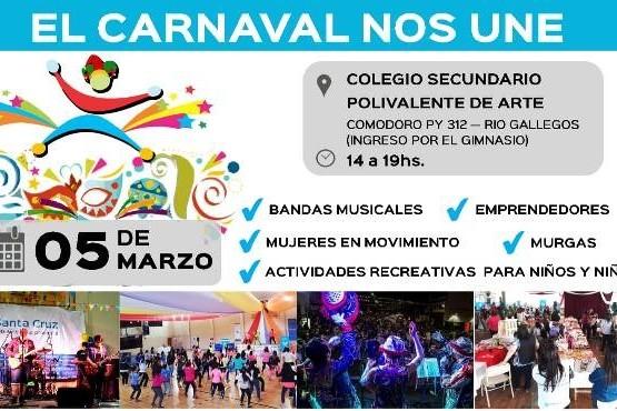Invitan al festejo de los Carnavales en el Polivalente de Arte