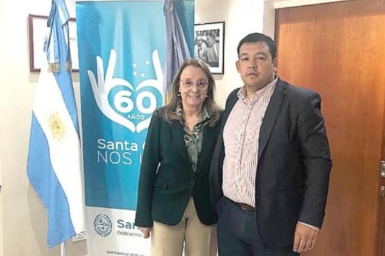 Alicia Kirchner y Terraz, autor del último proyecto de coparticipación.