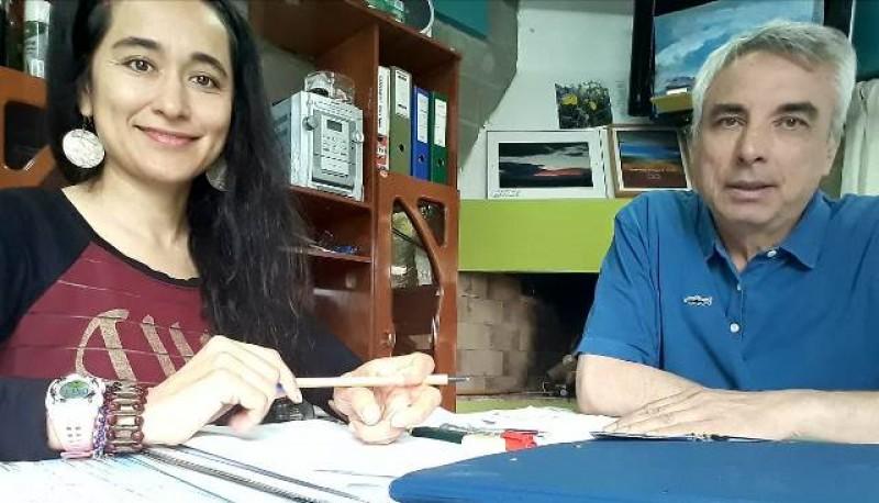 Natacha Peñaloza y José Ángel Peñaloza, mentores de la propuesta.