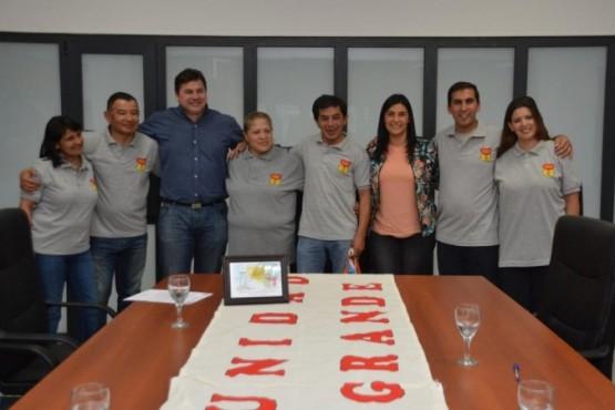 Peralta recibió a referentes del Grupo Encuentro Matrimonial Mundial