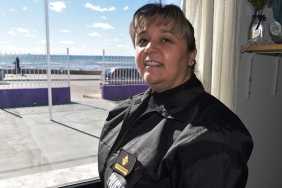 Natalia San Sebastián, jefa de la Comisaría de la Mujer de Caleta Olivia, quien reveló que en los dos primeros meses de este año se evidenció un notable incremento de denuncias por violencia género.