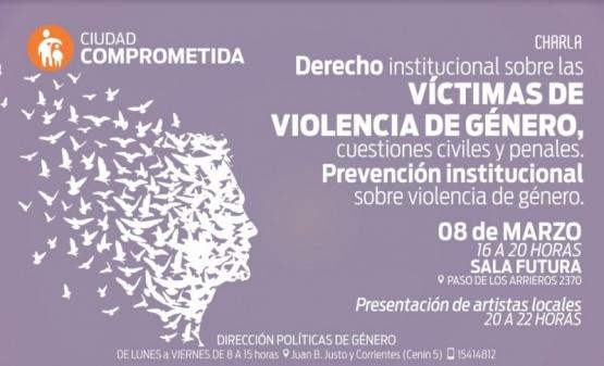 Realizarán charla de Violencia de género en el espacio futura
