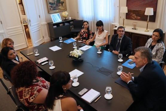 Macri recibió a consejeros del Plan Nacional de Prevención del Embarazo No Intencional en la Adolescencia