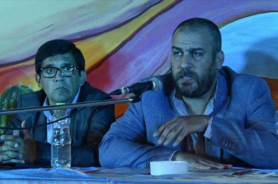 Junto al concejal Javier Aybar, el intendente Facundo Prades, pronunció un discurso.