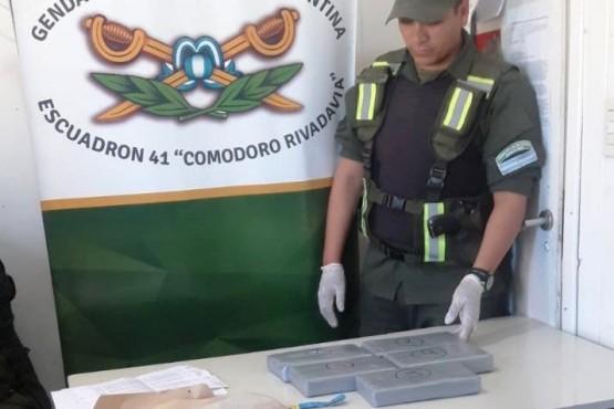 Secuestran 5 kilos de cocaína