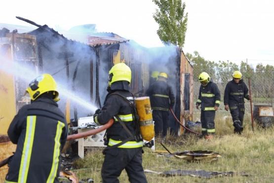 Incendio en una vivienda de material ligero