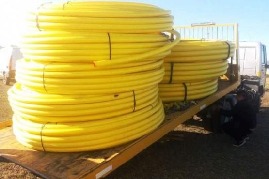 Trasladaron cañerías para los nuevos troncales de gas para el Patagonia