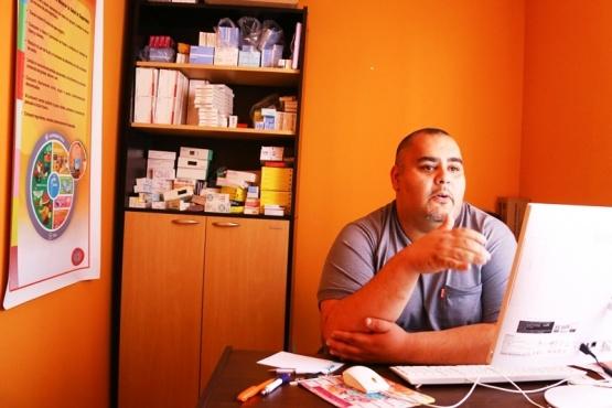 Claudio García, vicepresidente de la Asociación de Personas con Diabetes. (C. González)