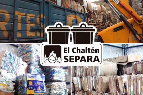 El Chaltén juntó 9 mil kilos de cartón y 400 kilos de plástico para reciclar