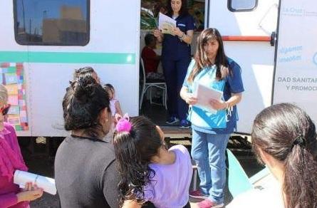 Llevaron los controles sanitarios a los barrios de Caleta Olivia