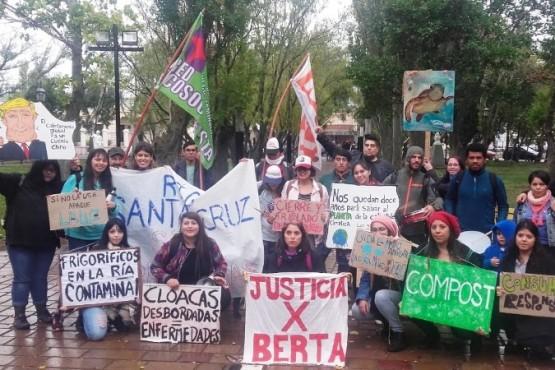 La marcha concluyó en la plaza San Martín.