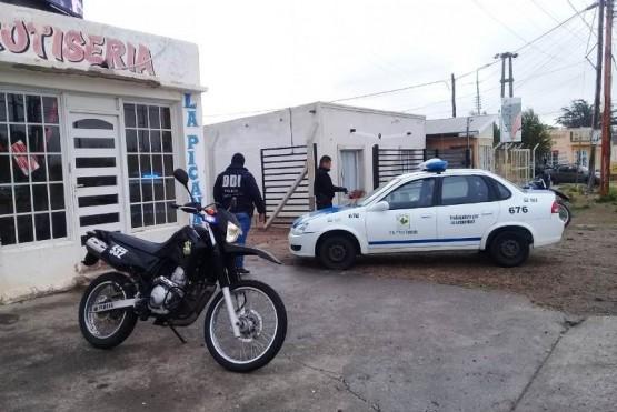 El personal de la Comisaría Primera y de la División Investigaciones de Pico Truncado realizó las pericias del caso.