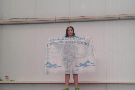 Nadadora santacruceña en el Torneo Open FADESIR