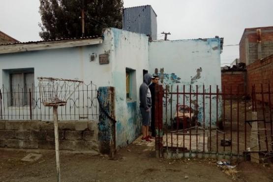 Vivienda donde fue asesinado Sánchez en la madrugada del jueves.