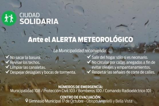 Habilitan gimnasio 17 de Octubre para recibir evacuados tras las lluvias