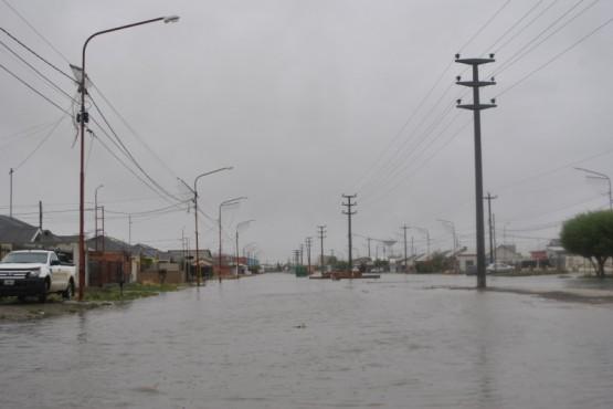 Las postales de Río Gallegos tras las intensas lluvias