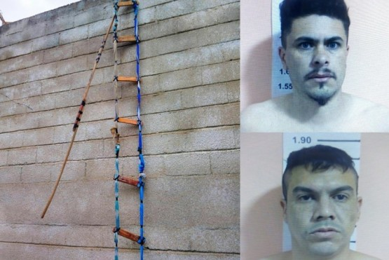 Armaron una escalera con telas y maderas y se fugaron de la cárcel