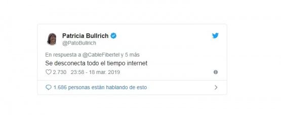 La ministra Bullrich y un peculiar reclamo