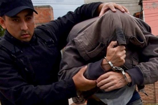 Martínez cuando fue trasladado de Comisaría.