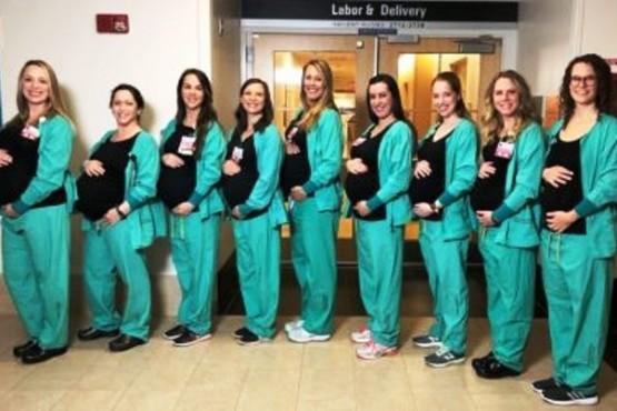 Nueve enfermeras del mismo hospital darán a luz casi al mismo tiempo