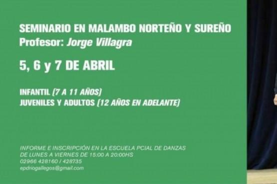 """Se concretará seminario de """"Malambo Norteño y Sureño"""""""