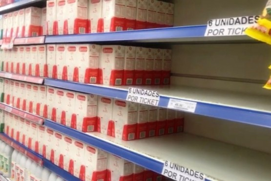 Escasez de leche en supermercados