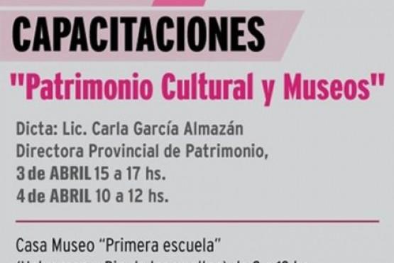Capacitaciones en 'Patrimonio Cultural y Museos'