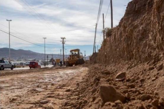 Realizan obras en Ruta 3 y el nuevo acceso sobre Yrigoyen