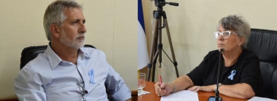 Concejal Claudio Tortoriello (Cambiemos) / Viceintendenta de Puerto Madryn, Xenia Gabella