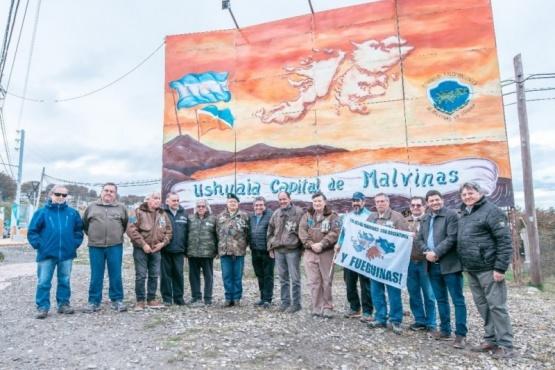 Se reinauguró el mural restaurado que conmemora la Gesta de Malvinas