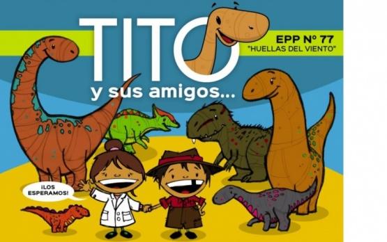 Se trata de la caricatura del dinosaurio que habitó territorio provincial.