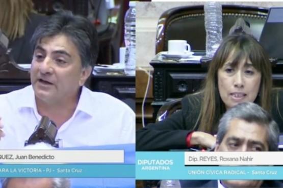 Vázquez y Reyes en la sesión especial.