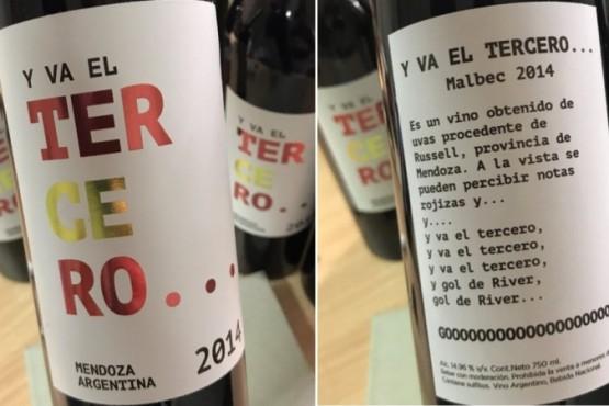 'Y va el tercero...' el provocativo vino de Mendoza