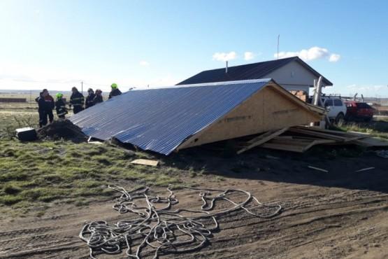 Por vientos fuertes: destrozos en el San Benito