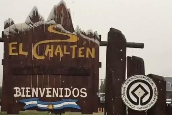 Nieve en El Chaltén