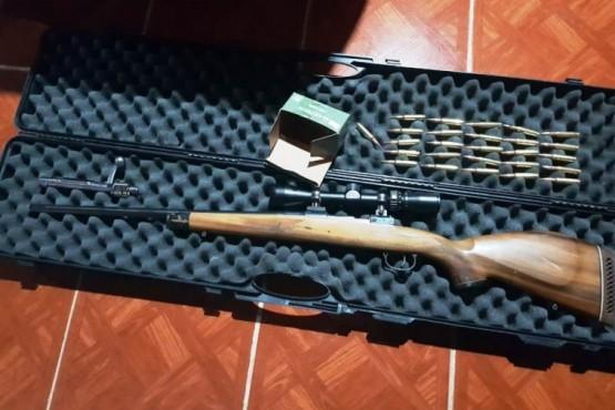 Secuestran armas largas, calibre 308 y 233 y gran cantidad de proyectiles