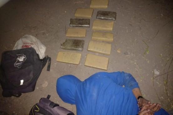 Intentaban pasar 9 kilos de droga a Chile