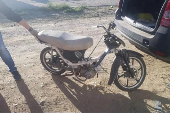 Secuestran una moto armada con piezas robadas