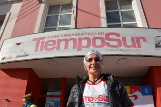 Nadia Ricci participó de la Corrida de TiempoSur
