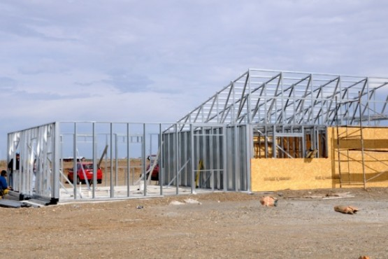 Robaron toda la estructura de una casa de Techo Digno en Río Gallegos