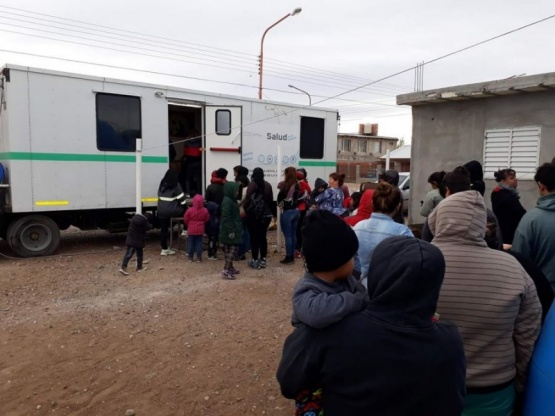 Pico Truncado: operativo de sanidad móvil