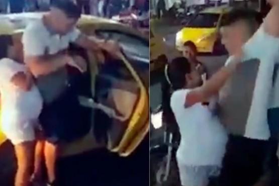 Una mujer embarazada sorprendió a su pareja cuando llegaba a una fiesta con su amante