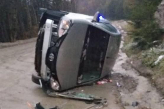 Vuelco en Ushuaia no dejó heridos