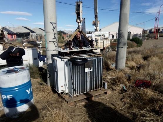 Caleta Olivia: SPSE reparó red eléctrica en 64 viviendas