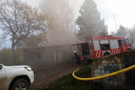 Se incendió el ex Vivero Municipal