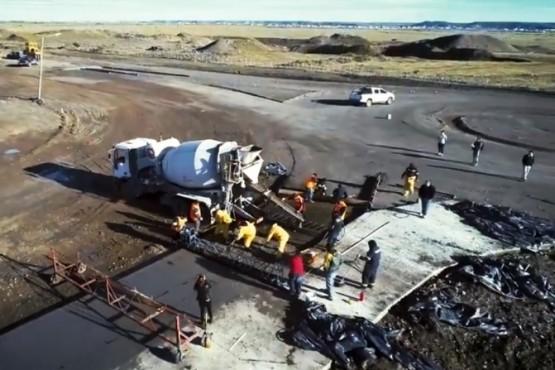 Avanzan los trabajos de la nueva rotonda de acceso al San Benito