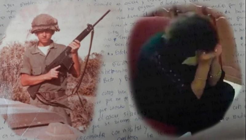 Jorge Ludueña en 1982, y su mamá, Manuela Roldán, al recibir la carta