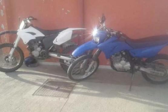 Tras persecución recuperaron motos robadas