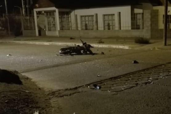 Dos heridos por una colisión entre una moto y un auto