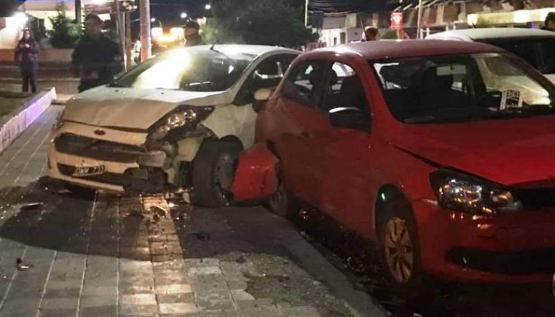 El choque sucedió en la avenida San Martín y José Ingenieros. (Twitter)